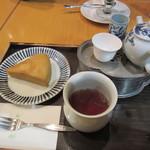 京はやしや - 中国茶と蒸しカステラセット 875円