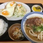 家紋 - 料理写真:うどん定食500円