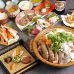 魚貝三昧 万や - 忘年会限定【鍋会席】7000円
