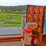 ピザドゥ - カウンター席からの風景