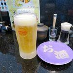 琉球回転寿司 海來 - オリオン生(500円)