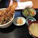 いとはん三日月 - 大海老天丼1,000円