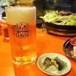 めんよう亭 - 生ビール