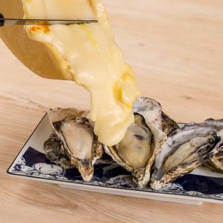 牡蠣の贅沢ラクレットチーズがけ