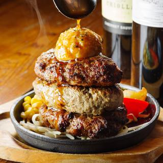 10万食を突破!ステーキ屋さんのハンバーグはみんな大好き!