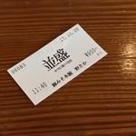 野さか - 野さか(埼玉県秩父市野坂)食券