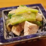 魚菜料理 縄屋 - ウスバハギの肝、芥子酢味噌