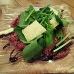 76853949 - 馬肉バラ肉のカルパッチョ