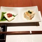 蕎肆 穂乃香 - ごま豆腐、チーズ豆腐に塩辛