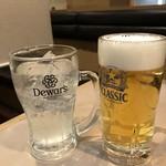 76858923 - ビールとレモンサワー。