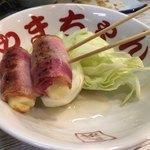 長浜屋台 やまちゃん - チーズベーコン焼き。