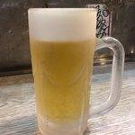 長浜屋台 やまちゃん - キンキンの生ビール。