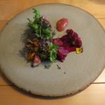 ナイン ストーリーズ - 秋刀魚と焼き茄子のタルト 林檎と生姜のジャム1