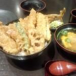 76860442 - 「五代目天丼」(2500円「味噌椀」(150円))