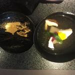 京都幽玄 - 九絵、松茸、聖護院蕪の椀