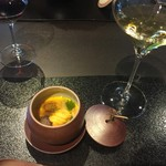 京都幽玄 - 雲丹とフォアグラの茶碗蒸し
