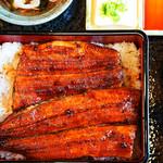 うなぎの初音 - 美味しそうな大きな鰻が乗ってます^ ^