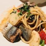 RIGOLETTO SMOKE GRILL & BAR - スモークした秋刀魚とカブのアーリオ・オーリオ