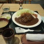 とんかつ伊勢 - チーズメンチかつカレー定食(1000円)