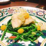 76868434 - 長崎産クエと季節野菜の炒め