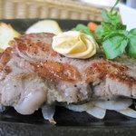 青野 - ランチセットのサーロインステーキ
