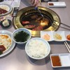 南大門 - 料理写真:日替り焼肉ランチ(カルビ+ハラミ)全景
