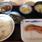 松屋 - 焼鮭定食