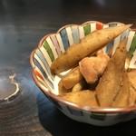オ バロン ルージュ - 小鉢②鶏ごぼうの甘辛(2017.11.23)