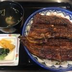 76877091 - うな丼 竹(4切)2780円+110円肝吸