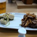 家庭料理 小川 - 高野豆腐と牛肉しぐれ
