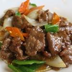 和唐 - ・「和牛肉の黒胡椒炒め定食(\800)」のアップ。