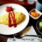 グリル国 - 料理写真:オムライスセット サラダ付き