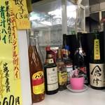 ラーメン餃子三平 - カウンターの隅っこ。