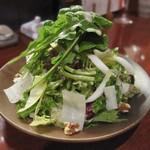 手打蕎麦 とし庵 - 苦味野菜のサラダ