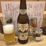 人形町 麺や わたる - 生ビール