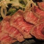 わさび - 京都牛のたたきUP