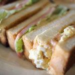 ひばり珈琲 - ミックスサンドイッチ定食