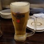 こころthe志  - とりあえず「生ビール (550円)」を注文