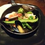 今彩 - オマール海老のフライパン焼き