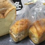 76909738 - パンドミ角、ミニ食パン(塩バター、くるみ)