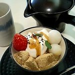 kafemorozofu - わらび餅と黒ごまジェラード