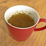 Green Cafe&Bar - コブサラダランチのスープ