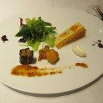 箱根ハイランドホテル ラ・フォーレ - ポワレした帆立貝と秋茄子のグリエ ガトー仕立ての帆立のムースと共に2017.11.19