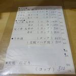 焼き鳥 千羽 - メニュー(1)