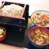 そば処 藤水 - 料理写真:田舎汁せいろ・ミニ丼セット