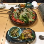湯浅 - お通しとサラダ