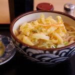 自家製うどん 武吉志 - 野菜のかき揚げうどん(500円)