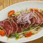 牛ランプ肉のタタキ