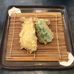 天ぷら家 てんてん - 料理写真:鯵、ピーマン。茄子。