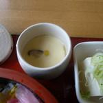 市場食堂 - 茶碗蒸しも美味しかった